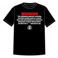 "Podcast ""Warning"" Unisex Tee"