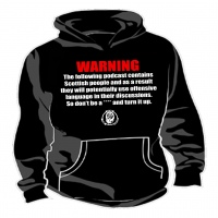 "Podcast ""Warning"" Unisex Hoodie"