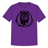 Original Black Logo T.shirt (Purple)