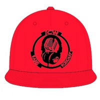 Original Black Logo Snapback (Red)